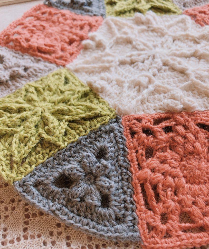 立体的な編み模様