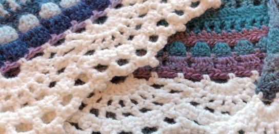 三角ショールの縁編み
